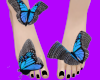 e. black toes !