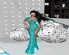 Turquoise Shimmer Gown
