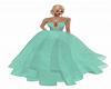 Sheer Chiffon Mint Gown