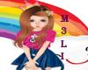 Kid Rainbow Nails