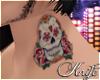 ♆ Skull Neck Tattoo