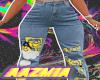 yella writing jeans
