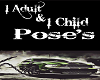 1 Adult 1 Kid poses sign