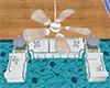 Blue Beach Ceiling Fan