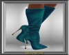 Teal Stiletto Boots