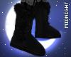 ☽M☾ Black Fur Boots