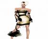 Golden An Black Dress