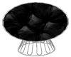 SSQ~Black Cuddle Chair