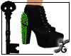 !X Lime Spiked Heel