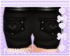 Black HeartPocket Shorts