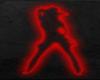 silhouette cowgirl neon