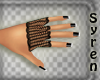 Glove Fishnet Black