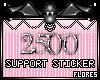 2500 Support Sticker