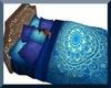 Blue Henna Mandala Bed