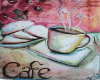 art Coffee with Orchids