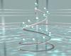 Teal Spiral Candles