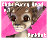 Chibi Furry Head (Long)