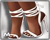 Tie up Heels White