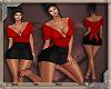 EVE-RED BLACK DRESS RLL