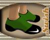 NIKE GREEN/BLK SOCKS