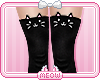 ♛Black Kitty Socks RLL
