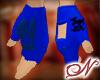(m) Blue Pirate Gloves