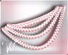 *W* Pink Pearl Necklace