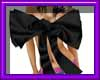 (sm)black silk bow top