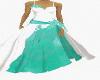 wedding dress teal