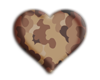 Camo heart Sticker