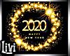 H.N.Y. 2020 Gold Sign