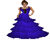 Royal Blue Laced Gown