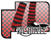 [K*] R/B Stripe LSocks