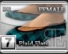 [BE] Blue Plaid Flats F