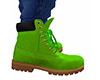 Lime Green Lace Boots M