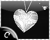 .C Silver Heart Necklace