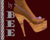 Mauve Strap Wood Sandal