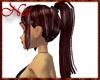 Mahagony high ponytail