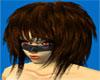 >S< Brown Funky Hair