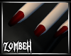 [ZB] Black/Red Nails