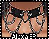 [A] Heart Chains Silver