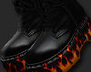 y. Leather Flame Boot