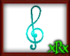 Note Treble Clef Teal