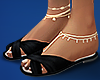 ( beach goer ) + anklets