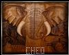 tableau éléphant bois