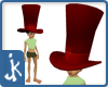 Red Leather hatters hat