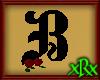 Gothic Letter B Roses