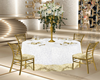 Table wedding gold