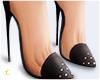 £. Studded Heels Black