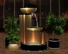 gold black fountain